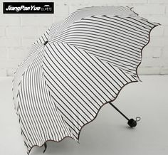 b448717479e Factory direct special vertical stripes black plastic men umbrella Apollo  rain women umbrella UV sun umbrella