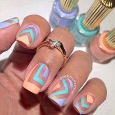 Design Nail Art Looks So Pretty 2019 - style you 7 Spring Nail Art, Spring Nails, Summer Nails, Fabulous Nails, Gorgeous Nails, Nail Art Designs, Do It Yourself Nails, Nagellack Design, Manicure E Pedicure