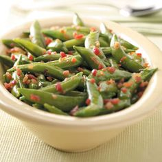 Glazed Snap Peas Recipe from Taste of Home