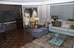 Custom personalized photo folding screen from 4ft to 7ft tall in multiple panel widths. Creative gift ideas