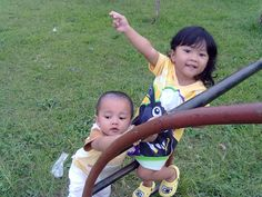 they are my children, happy to accompany them to play
