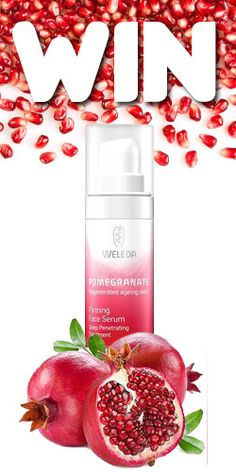 #RePin and #Win a Pomegranate Firming Face Serum from Weleda! #beauty #skincare