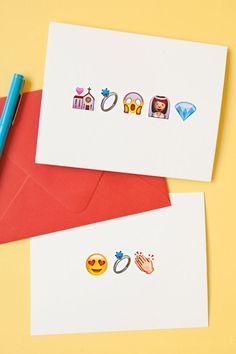 DIY awesome Emoji wedding greeting cards!