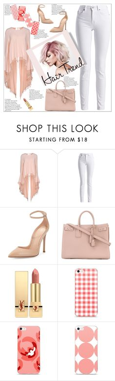 """""""Hair Trend"""" by atelier-briella ❤ liked on Polyvore featuring beauty, Antonio Berardi, Barbour International, Gianvito Rossi, Yves Saint Laurent and unicornhair"""