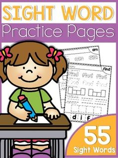 Thanks so much for viewing my Sight Word Practice Pages! This packet contains 55 all-in-one sight practice sheets! The packet covers 55 sight words. The sheets offer five ways to practice the sight words. The students will color the sight word, trace the sight word, box the sight word, write the sight word and build the sight words. You can choose to place these skill sheets in a literacy center, RTI intervention group, guided reading group, or whole-group ...