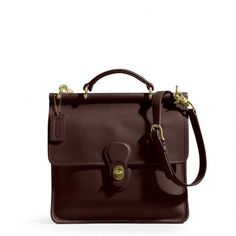 The Willis Bag In Mahogany Leather from Coach