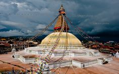 Temple is one of the largest Buddhist Stupas or Temples in the world and today it is home to a large Hindu population in Katmandu. Boudhanath is one of the holiest Buddhist sites in Nepal Buddhist Stupa, Buddhist Temple, Nepal Kathmandu, Bhutan, Places To Travel, Places To Visit, National Geographic Photos, Asia Travel, Travel Nepal