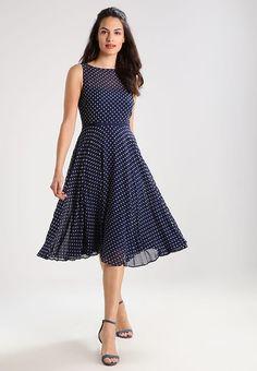 Hobbs DELLA - Summer dress - navy lemon - Zalando.co.uk