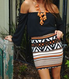 Such a great outfit. Love the orange