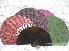 Hand Painted Fans From Spain Antique Fans, Vintage Fans, Painted Fan, Hand Painted, Hand Held Fan, Hand Fans, Chinese Fans, Umbrellas Parasols, Costume Accessories