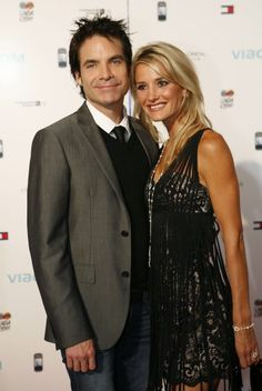 Pat Monahan from Train and his second wife Amber Peterson. Together for 4 years and his latest song, Drive by, is about how they had a one night stand and she thought he was just in it for one thing. Meanwhile he was head over heels.