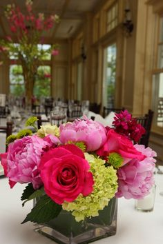 Pink Peony Centerpieces - Musket Ridge Golf Glub designed by Petals and Promises, LLC