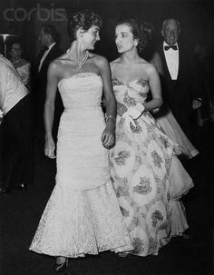 Jacqueline Kennedy and her sister Lee Radziwell