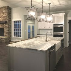 one of my favorite kitchens love the color of the floor wall and