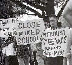 Pro segregation protest in Montgomery, Alabama (1961) This makes me laugh...extremely hard...baha.  Just because of that first sign. We're people really that naive?