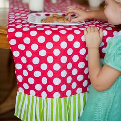 Personalized Dottie Table Runner