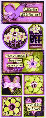 Bo Bunny Pretty Sisters stickers I designed. :)