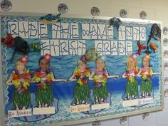 Ride the Wave Teacher Board.  @Andrea Massullo -- We could be on either side of the board and the kids could make themselves on little surfboards in the middle...