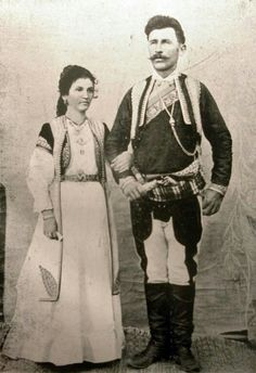 """Zef Doda, a Christian Albanian from Triepshi in Montenegro, and his wife, a native of Podgorica"" (Photo: Alexandre Baschmakoff, September 1908)."