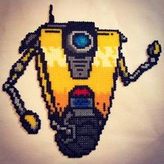 Claptrap - Borderlands perler beads by wisebeadz