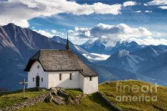 "Beautiful little mountain chapel ""Maria zum Schnee"", Bettmeralp, Valais, Switzerland, Europe. Click here to purchase a poster, print or canvas print: http://matthias-hauser.artistwebsites.com/featured/lovely-little-chapel-in-the-swiss-alps-matthias-hauser.html  Watermark will not appear on final product. 30 days money back guarantee. (c) Matthias Hauser hauserfoto.com"