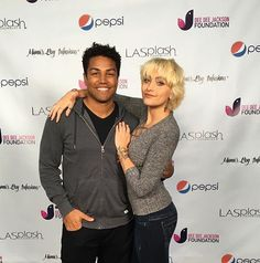 Paris Jackson and her cousin, T.J. Jackson, pictured at a Dee Dee Jackson Foundation event.