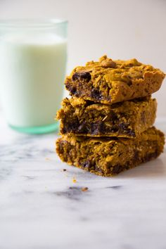 Chocolate Chip Pumpkin Breakfast Bars