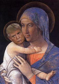 Einfach nur 12 Bilder von Donald Trump als Renaissance-Baby