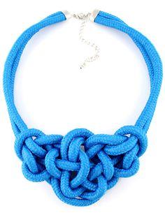 Collar elástico lazos-Azul EUR6.57
