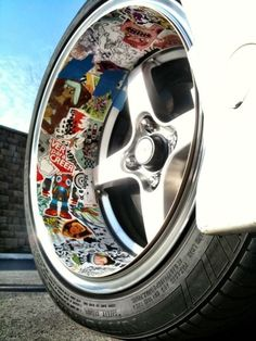 Those wheel are awesome! Rims For Cars, Rims And Tires, Mustang Wheels, Car Wheels, Custom Wheels, Custom Cars, Car Head, Sticker Bomb, Car Mods