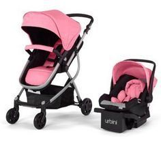 Urbini Omni 3-in-1 Baby Travel System. Modern, Versatile, Affordable-Exceeds US Safety Standards Newborn Baby Travel Systems - SALE!! Reversible Baby Stroller Seat, Lightweight,Rear-Facing Baby Car Seat. Comfortable Baby Strollers & Best Baby Carseat. Enjoy Your Baby Travel Systems. (Pink) Urbini