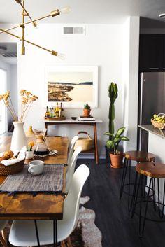 Warm modern kitchen home