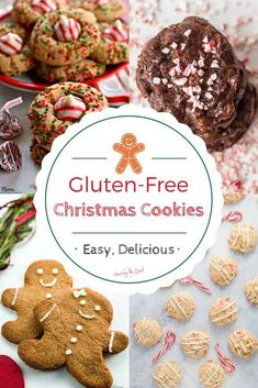 Here is the best collection of gluten-free Christmas cookie recipes. This ever growing list of easy gluten-free cookie recipes will keep you in the holiday spirit all year long. These are easy, delicious gluten free cookie recipes that anyone can make. Gluten Free Christmas Cookies, Best Christmas Cookie Recipe, Christmas Recipes, Holiday Recipes, Christmas Crafts, Merry Christmas, Spritz Cookies, Roll Cookies, Gluten Free Cookie Recipes
