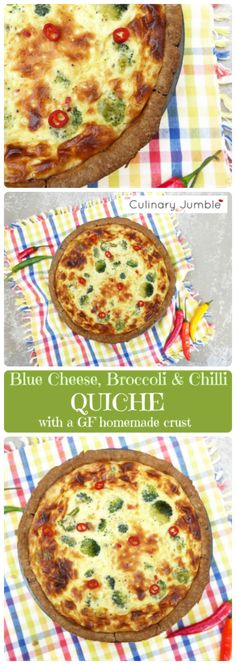 Creamy, salty, tangy blue cheese mixed with spicy chillies make the ultimate in flavours. This quiche is fantastic on picnics, as a light lunch or served with potatoes and salad for dinner. It also has a homemade, gluten free crust! Breakfast Casserole French Toast, Breakfast Enchiladas, Easy Family Meals, Frugal Meals, Simple Meals, Brunch Recipes, Breakfast Recipes, Healthy Snacks To Make, Healthy Meals