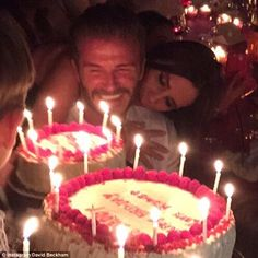 Happy birthday to you! David Beckham posted a special thank you to his doting wife, Victoria, as he enjoyed a relaxing Monday morning after his 40th birthday party in Marrakech, Morocco, on Saturday night