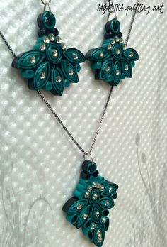 Quilling necklace set 4