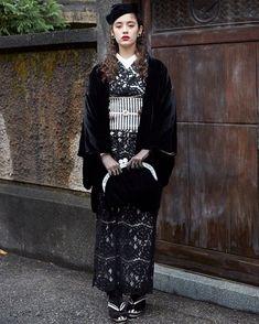 Japanese Outfits, Japanese Fashion, Asian Fashion, High Fashion, Kimono Japan, Japanese Kimono, Kimono Outfit, Kimono Fashion, Traditional Kimono