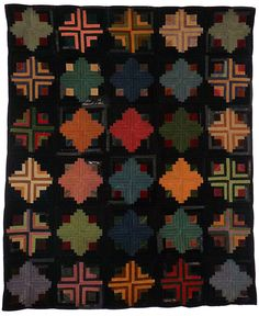 I'm keen on this glorious photo Old Quilts, Amish Quilts, Strip Quilts, Antique Quilts, Vintage Quilts, Quilt Blocks, Log Cabin Patchwork, Log Cabin Quilts, Log Cabins
