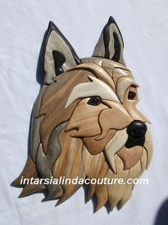 Berger picard Scroll Saw Patterns, Wood Patterns, Glow Table, Puppy Day, Wood Dog, Intarsia Woodworking, Dog Crafts, Dog Art, Wood Carving