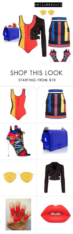 """""""#instylewithbri #brizarrechic"""" by instylewithbri ❤ liked on Polyvore featuring Fila, Balmain, Dsquared2, Chanel, Mykita, Haider Ackermann and Lime Crime"""
