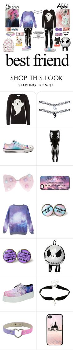 """Quinn and Abbi"" by quinnfrey ❤ liked on Polyvore featuring Cotton Candy, Wet Seal, Converse and T.U.K."