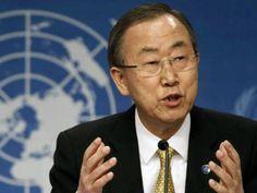 UN Secretary-General Ban Ki-moon . PHOTO: AFP