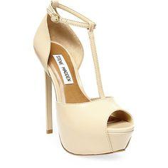 Steve Madden Women's Kriminal Pumps ($130) ❤ liked on Polyvore featuring shoes, pumps, heels, platform stiletto pumps, peep toe pumps, high heel pumps, stiletto pumps and steve-madden shoes
