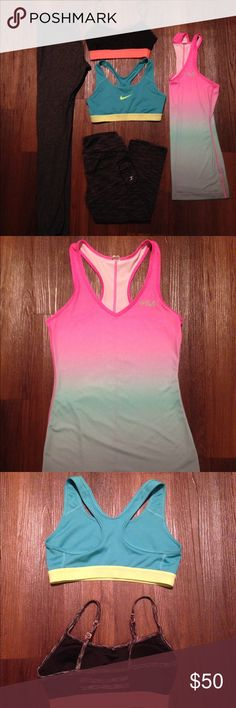💪NIKE SPORTS BRA 🏃🏻‍♀️ 💥Nike razorback Bra. 💥SIZE SMALL. Really cute, vibrant top. Good support and in excellent condition! Nike bra hardly ever worn! 🏃‍♀️Please message me with any questions!😀 Nike Other
