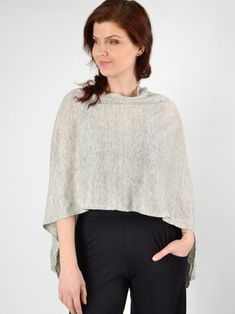 Ruffle Poncho by MARGARET O'LEARY