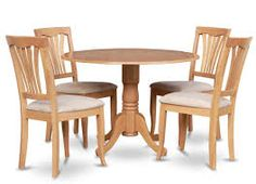 Image result for wooden dining table & chairs