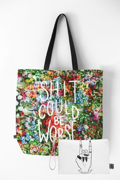 Shit Could Be Worse Bag Set | DENY Designs Home Accessories
