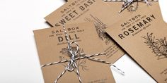 The Dieline, Salt Box Restaurant helping you get started on your own farm at home with a free seed packet.
