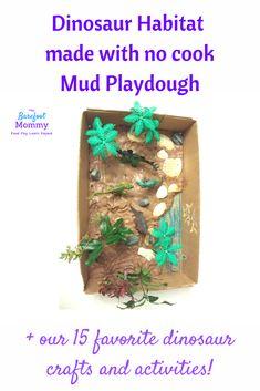 Dinosaur activities for kids | Playdough Recipes | Sensory Play | Preschool dinosaur activities | Toddler dinosaur activities