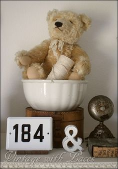 This would be great with my antique teddy bear, print blocks, etc.